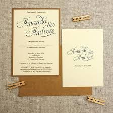 Simple Wedding Invite Simple And Elegant Cream Rustic Wedding