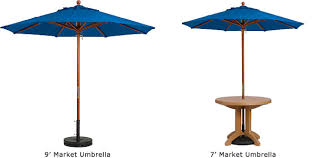 Commerical Market Umbrellas With Wood Pole