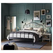 sagstua bed frame black luröy ikea
