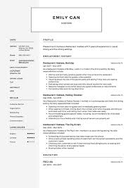 Restaurant Hostess Resume Sample, Template, Example ... Hospital Volunteer Cover Letter Sample Best Of Cashier Customer Service Representative Resume Free Examples Rumes Air Hostess For 89 Format No Experience New Cv With Top 8 Head Hostess Resume Samples Sver Example Writing Tips Genius Restaurant 12 Samples Pdf Documents Cashier Job Description 650841 Stewardess Fine Ding Upscale 2019