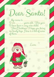 Free Printables} Letter to Santa templates and how to a reply