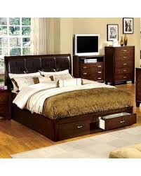 King Size Platform Bed With Headboard by Deals On Enrico Iii Collection Cm7066ck Bed California King Size