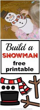 Build A Snowman Free Printable Will Keep Your Kids Busy This Winter