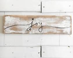 Joy Sign Christmas Rustic Decor