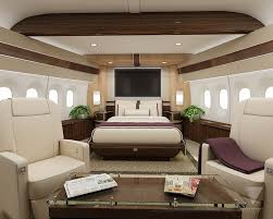 Interior options for private jets