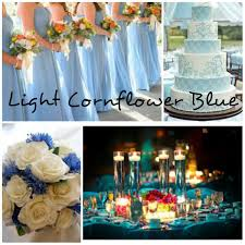 Light Cornflower Blue Wedding Collage By Alvina Prozorac Made From