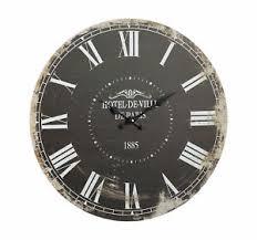 details zu xl wanduhr nostalgie grau vintage ø45cm uhr küchenuhr uhr wohnzimmeruhr shabby