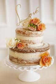 Light Frosting Naked Wedding Cake