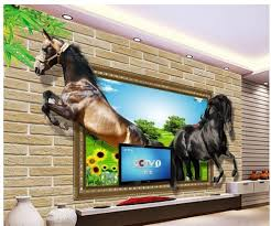 Wall Mural Decals Canada by Fascinating Horse Racing Wall Decals Winter Horses Wall Mural