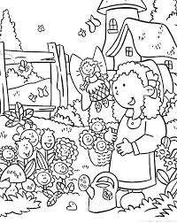 Daisy Flower Garden Coloring Page PageFull Size Image