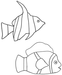 Clown Fish Coloring Page Angel And Free Pages For