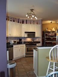 lighting pretty galley kitchen track lighting ideas finest