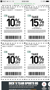 Dick's Coupons | Ilion Little League Print Dicks Sporting Goods Coupons Coupon Codes Blog Top 10 Punto Medio Noticias Fanatics Code Reddit Dover Coupon Codes 2018 Beautyjoint Code November The Rules You Can Bend Or Break And The Stores That Let Dickssporting Good David Baskets Mr Heater Tarot Deals Aldi 5 Off Ninja Restaurant Nyc Official Web Site Dicks Park Exclusive Shop Event Calendar Meeting List Additional Coupons 2016 Bridesburg Cougars Add A Fitness Tracker In App Apple