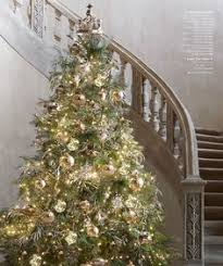 Classic Christmas Tree In Gold And Silver Restoration Hardware