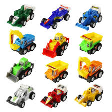 Amazon.com: Jerryvon Toy Cars Mini Pull Back Vehicle Toys For Egg ...