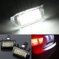 2pcs error free 18 led license number plate light bulb car light