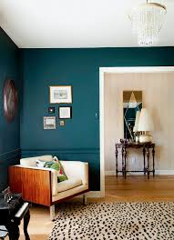 Dark Teal Living Room Decor by The Painted Chair Rail Trend Room Living Rooms And Turquoise Walls