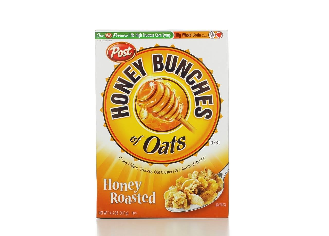 Honey Bunches of Oats Cereal - Crunchy Honey Roasted, 14.5oz