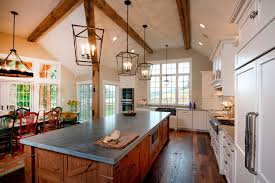 chandelier for sloped ceiling kitchen rustic with recessed