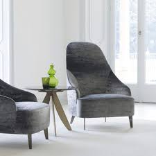 100 Contemporary Armchair Fabric Leather High Back Vanessa Very Good