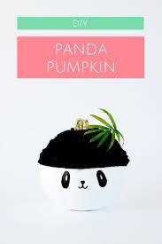 Panda Pumpkin Designs by How To Make A No Carve Panda Pumpkin For Halloween U2014 A Charming