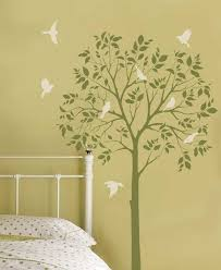 Gonna Be Painting Trees This Evening In The Kids Room With A Glass Of KidsroomWall StencilingLarge