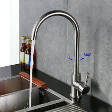 robinet cuisine inox homelody robinet mitigeur cuisine en laiton durable acier inox