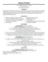 Maintenance Supervisor Resume Objective Example Sample Directory Food Service Resumes Amazing No Experience With Fast