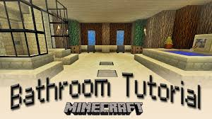 Good Minecraft Living Room Ideas by Minecraft How To Make A Bathroom Tutorial Youtube