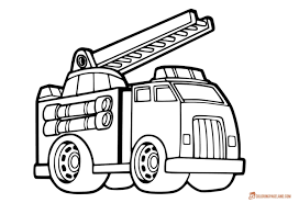 100 Fire Truck Template Coloring Pages Free Printable Pictures In HD
