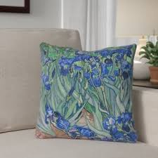Morley 16 X Irises In Blue Outdoor Pillows Cushions UV Properties Waterproof And Mildew Proof