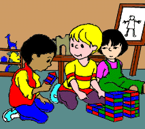 Image Result For Kids Playing Together Inside Clipart