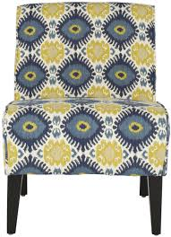MCR1003A Accent Chairs - Furniture By Safavieh Lily Navy Floral Ikat Accent Chair Navy And Crimson Ikat Ding Chair Cover Velvet Ding Chairs Tufted Blue Meridian Fniture C Angela Deluxe Indigo Pier 1 Imports Homepop Parson Multicolor Set Of 2 A Quick Living Room And Refresh Stripes Whimsy Loralie Upholstered Armchair With Walnut Finish Polyester Stunning And Brown Ideas Ridge Table Eclectic Decatorist Espresso Wood Ode To The Skirted Katie Considers