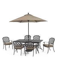 Macys Patio Dining Sets by Grove Hill Outdoor Cast Aluminum 7 Pc Dining Set 72