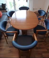 erle massiv esszimmer tisch und 6 stühle in 85652 pliening