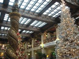 Cheers To Christmas Tree Elegance At The Decadent Davenport Hotel