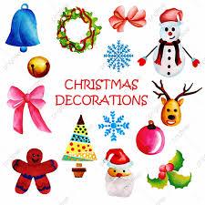 Watercolor Christmas Ornaments Collection Watercolor Vector