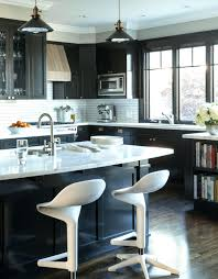 Black Kitchen Cabinets Dark Brown Ideas Off White With Appliances