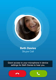 """Grant access to your microphone in device settings for Beth Davies to hear you"