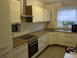 gebrauchte nobilia küche hochglanz weiß esche in 3 78 x 1 97m