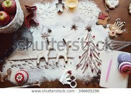 Cooking Christmas Ginger Cookies Cupcakes Cookie Cutters Deer Teapots