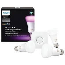philips hue a19 smart personal wireless light bulb starter kit