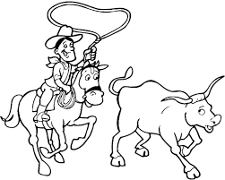 Printable Cowboy Coloring Pages Within Page