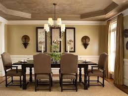 Neutral Colors For Living Room Dining With Tray Ceiling And White Crown