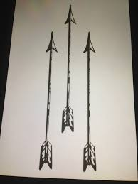 Nice Designs Of Arrow Tattoo On White Paper