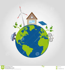 100 House Earth On A Green Planet With Blue Oceans Is A Comfortable And