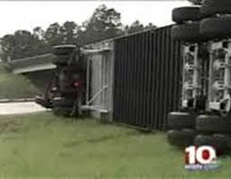 Wind Overturns Moving Truck, 18-wheeler On I-26