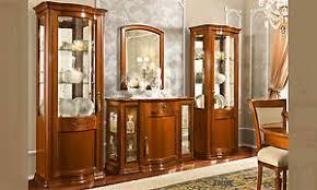 details zu klassisches wohnzimmer set 4 teil nussbaum holz furnier italienische stil möbel