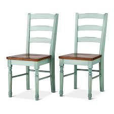 Mulberry Two Tone Distressed Dining Chair Tar