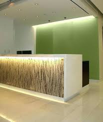 Receptionist Desk Design Reception With Absolute White Stone Top Hotel Counter
